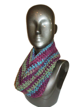 Load image into Gallery viewer, Royal Shades of Color Crochet Cowl - Beachside Knits N Quilts