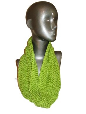 Avocado Green Knitted Cowl | Beachside Knits N Quilts