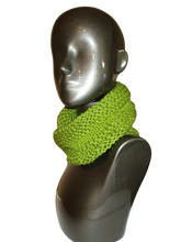 Load image into Gallery viewer, Avocado Green Knitted Cowl - Beachside Knits N Quilts