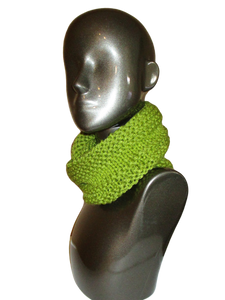 Avocado Green Knitted Cowl - Beachside Knits N Quilts