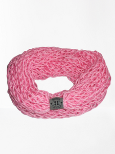 Lacy Open Knit Infinity Scarf - Cotton Candy Pink | Beachside Knits N Quilts