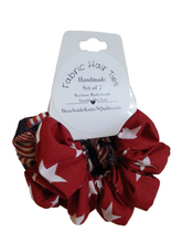 Load image into Gallery viewer, Jumbo Hair Scrunchies - Patriotic - Set of 2 - Beachside Knits N Quilts