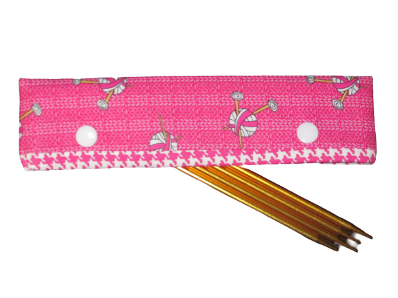Knitting Needle Cozy - Project Keeper - Pink Knit Chicks