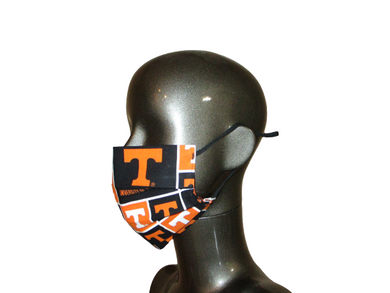 Pleated Face Mask with Adjustable Straps - University of Tennessee