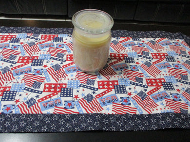 Quilted Table Runner or Dresser Scarf - Patriotic