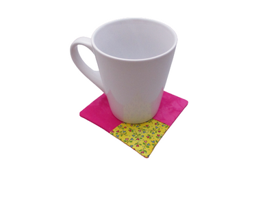 Criss Cross Coasters - Hearts Pink Yellow