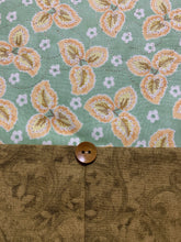 Load image into Gallery viewer, Table Runner or Dresser Scarf - Fall Floral Peach Green - Beachside Knits N Quilts
