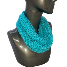 Load image into Gallery viewer, Drop Stitch Open Knit Infinity Scarf - Cornflower Blue