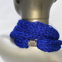 Load image into Gallery viewer, Drop Stitch Open Knit Infinity Scarf - Royal Blue - Beachside Knits N Quilts