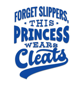 This Princess Wears Cleats Softball Vinyl Decal - Beachside Knits N Quilts