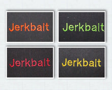 "Load image into Gallery viewer, Jerkbait Fishing Lure Wrap 7"" x 2.5"" Black - Beachside Knits N Quilts"