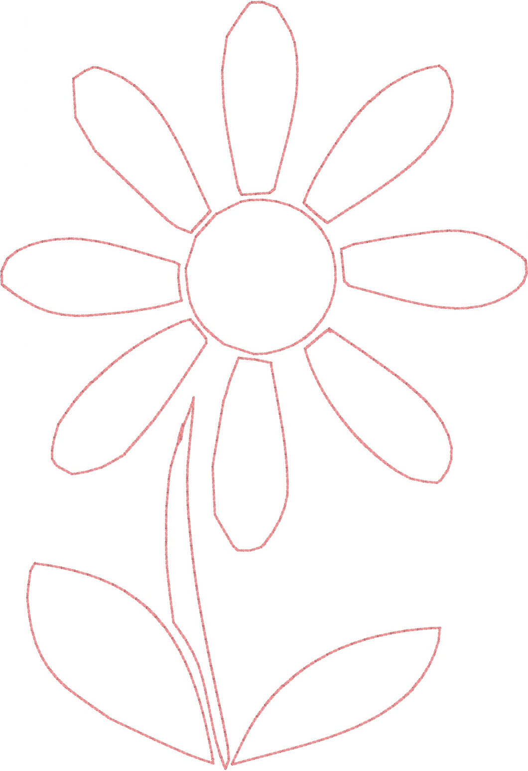 Jumbo Daisy - Machine Embroidery Quilting Design - 5x7 Hoop