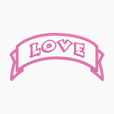 Love Banner - Machine Embroidery Design - 4x4 Hoop - Beachside Knits N Quilts