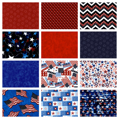 Patriotic Fat Quarter Bundle - Beachside Knits N Quilts
