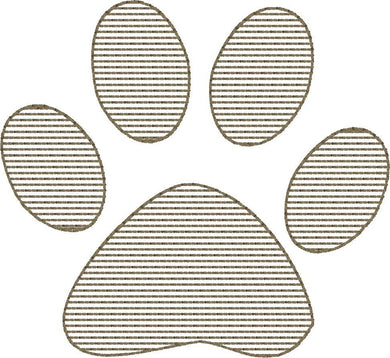 Paw Print - Machine Embroidery Design - 4x4 Hoop - FREE DOWNLOAD