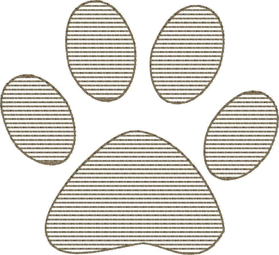 Paw Print - Machine Embroidery Design - 4x4 Hoop - FREE DOWNLOAD - Beachside Knits N Quilts