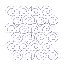 Load image into Gallery viewer, Snail Swirl Edge to Edge - Machine Embroidery Quilting Design - 8x11 Hoop - Beachside Knits N Quilts