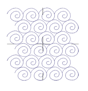 Snail Swirl Edge to Edge - Machine Embroidery Quilting Design - 4x4 - Beachside Knits N Quilts