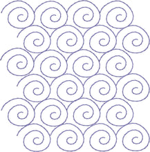 Load image into Gallery viewer, Snail Swirl Edge to Edge - Machine Embroidery Quilting Design - 4x4 - Beachside Knits N Quilts