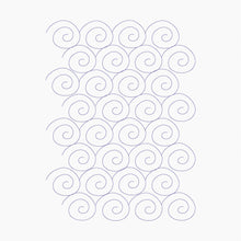 Load image into Gallery viewer, Snail Swirl - Machine Embroidery Quilting Design - 7.9x11 Hoop