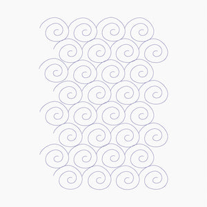 Snail Swirl - Machine Embroidery Quilting Design - 7.9x11 Hoop