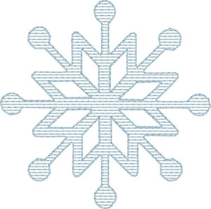 Snowflake 1 - Machine Embroidery Quilting Design - 4x4 Hoop