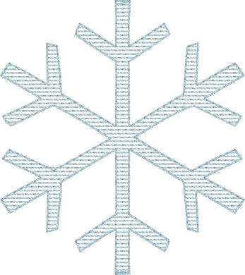 Snowflake 2 - Machine Embroidery Quilting Design - 4x4 Hoop