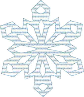 Snowflake Stripes 3 - Machine Embroidery Quilting Design - 4x4 Hoop