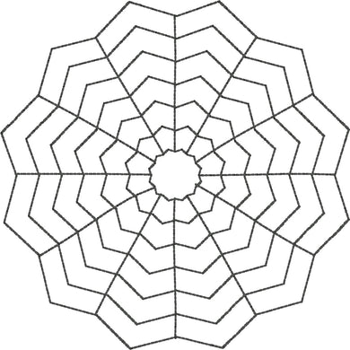Spiderweb - Machine Embroidery Quilting Design - 4x4 Hoop - Beachside Knits N Quilts
