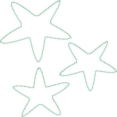 Star Fish - Machine Embroidery Quilting Design - 4x4 Hoop