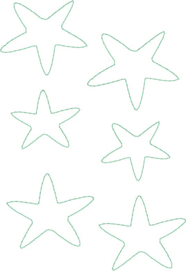 Star Fish - Machine Embroidery Quilting Design - 5x7 Hoop - Beachside Knits N Quilts