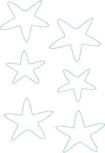 Star Fish - Machine Embroidery Quilting Design - 5x7 Hoop