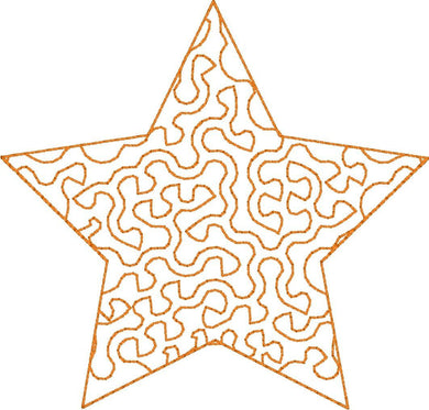 Star Stipple - Machine Embroidery Design - 4x4 Hoop - Beachside Knits N Quilts