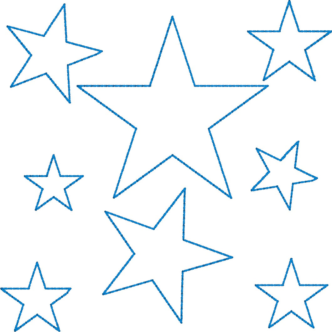 Stars Allover  - Machine Embroidery Quilting Design - 4x4