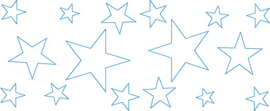 Stars Allover 5x12 Multi-Hoop Machine Embroidery Design PES Format