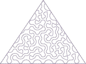Triangle Stipple - Machine Embroidery Design - 4x4 Hoop