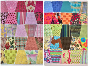 Modern Scrappy Tumbler Blocks - Set of 50