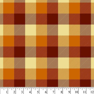Mason Plaid - Amber - Cotton Flannel Fabric - Beachside Knits N Quilts