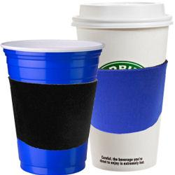 Personalized Monogram Neoprene Coffee or Solo Cup Sleeve - Navy Blue