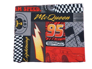 Cotton Fat Quarter - Lightning McQueen Patch from Pixar CARS | Beachside Knits N Quilts