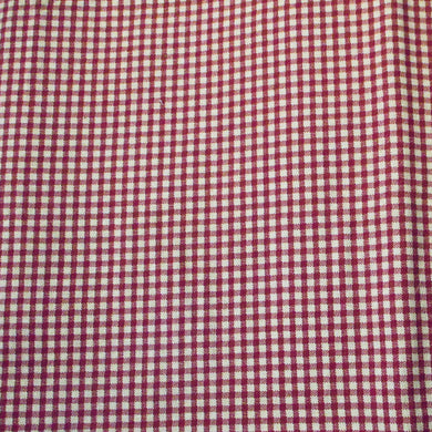 Cotton Fabric - Burgundy Tan Gingham Check - End of Bolt - Beachside Knits N Quilts