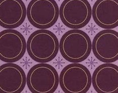 Cotton Fabric - Lizzy Dish Plates - Purple - Eggplant | Beachside Knits N Quilts