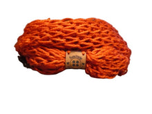 Load image into Gallery viewer, Lacy Open Knit Infinity Scarf - Paprika | Beachside Knits N Quilts