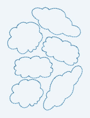 Embroidery Quilting Design - Clouds Allover - Machine Embroidery - Machine Quilting - 2 Sizes - Instant Download | Beachside Knits N Quilts
