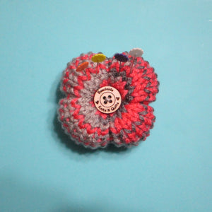 Flower Petal Pin Cushion - Pink Gray | Beachside Knits N Quilts