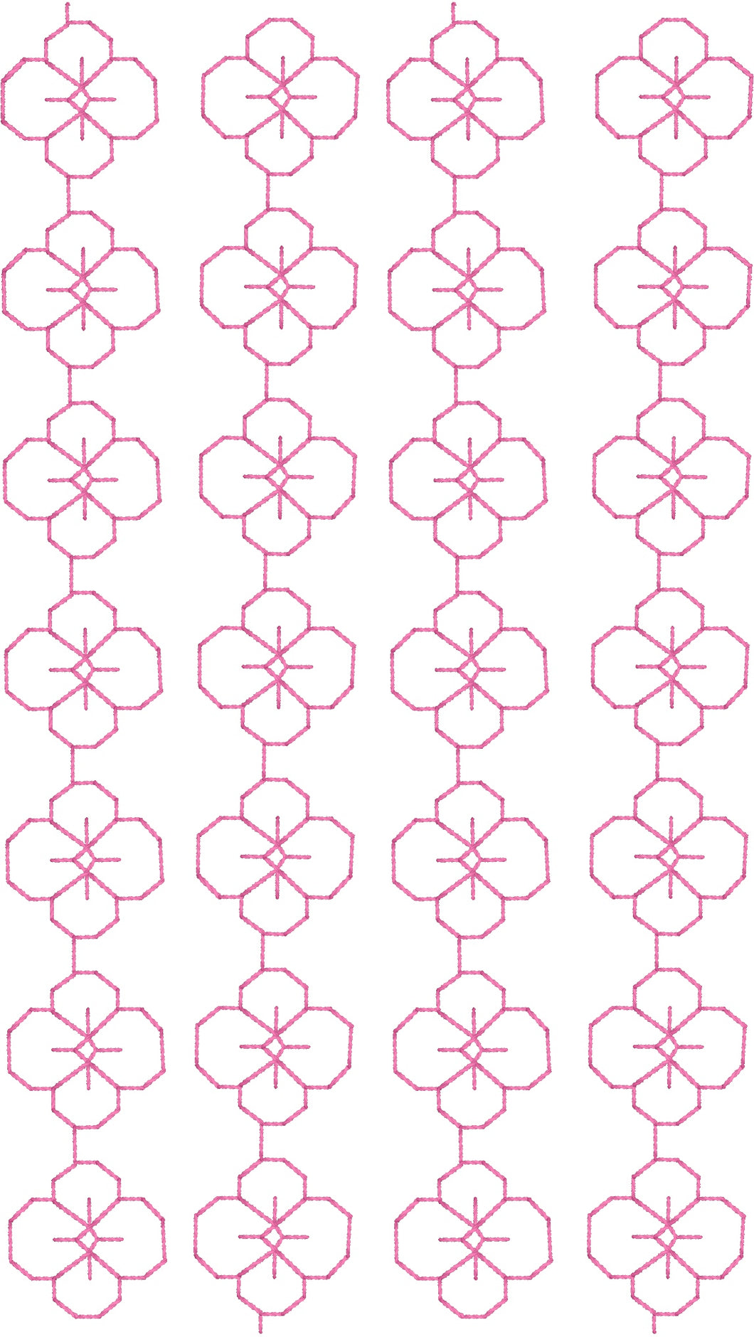 Embroidery Quilting Design - Flower Allover - Machine Embroidery - Machine Quilting - 5x7 Hoop - 10 Formats - Instant Download | Beachside Knits N Quilts