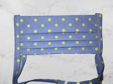 Load image into Gallery viewer, Pleated Face Mask with Ties - Blue Green Polka Dot Child Size | Beachside Knits N Quilts