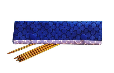 Knitting Needle Cozy - Project Keeper - Blue Deco - Beachside Knits N Quilts