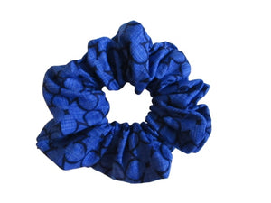 Jumbo Hair Scrunchies - Dark Blue Deco