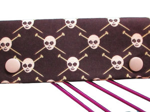 Knitting Needle Cozy - Project Keeper - Michael Miller Skulls